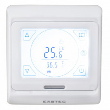 Терморегулятор EASTEC E 91.716 (3.5 кВт) электронный - сенсорный, программируемый , встраиваемый, два датчика температуры - встроенный и выносной.